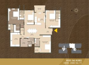 A101-A1801 4BHK-2880sqft Khushal garden