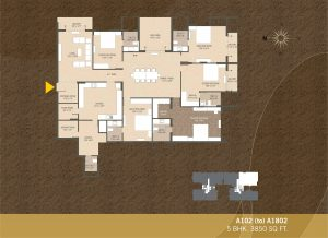 A102-A1802 5BHK-3850sqft Khushal garden