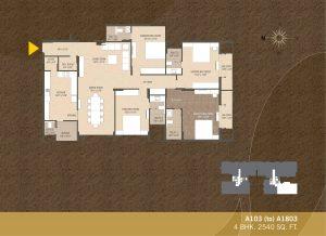 A103-A1803 4BHK-2540sqft Khushal garden