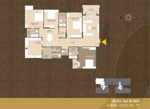 B101-B1801 4BHK-2530sqft Khushal garden