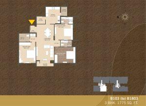 B103-B1803 4BHK-1775sqft Khushal garden