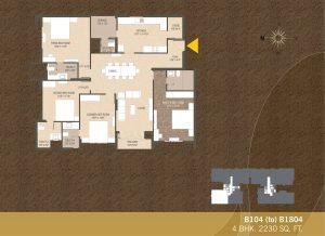 B104-B1804 4BHK-2230sqft Khushal garden